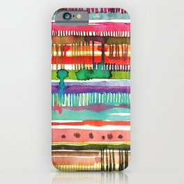 My knitted watercolor  iPhone Case