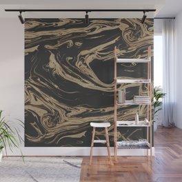 Ruin - Dark Suminagashi Marble Series: 06 Wall Mural