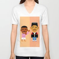 fresh prince V-neck T-shirts featuring The Fresh Prince by Evan Gaskin