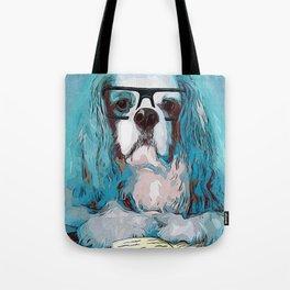 Librarian Pup Tote Bag