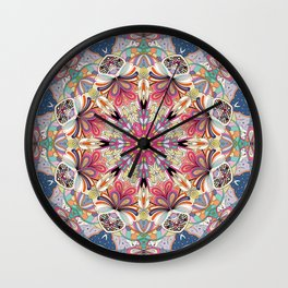 Tracery calming pattern Wall Clock