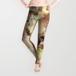 Abraded surface Leggings