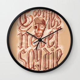 Goonies Never Say Die Wall Clock