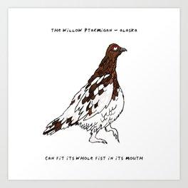 Willow Ptarmigan – State Bird of Alaska Art Print