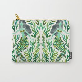Kelp Forest Mermaid – Green Palette Carry-All Pouch