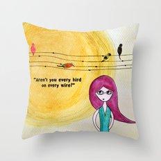 Every bird Throw Pillow