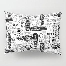 Gamer Lingo-White and Black Pillow Sham