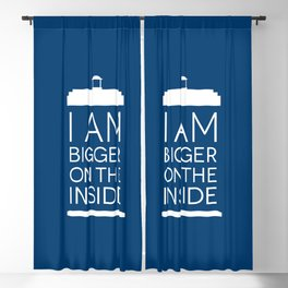 I Am Bigger On The Inside Blackout Curtain
