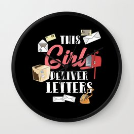 This Girl Deliver Letters For Postal Worker Wall Clock