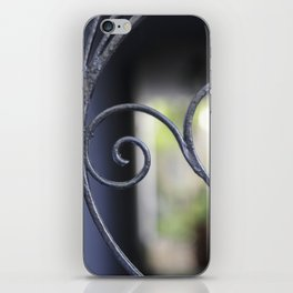 Charleston Blue Wrought Iron iPhone Skin