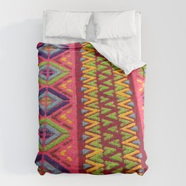 Colorful Guatemalan Alfombra Comforters