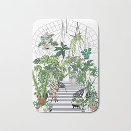 greenhouse illustration Bath Mat