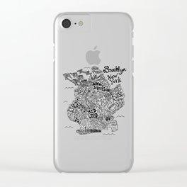 Brooklyn Map Clear iPhone Case