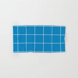 White Grid - Blue BG Hand & Bath Towel