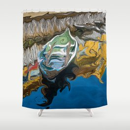 Norwegian Row Boat And Reflections Shower Curtain