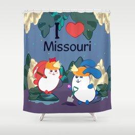 Ernest and Coraline | I love Missouri Shower Curtain