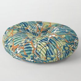 Old Marbled Paper 05 Floor Pillow