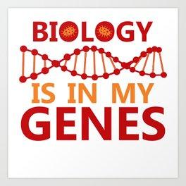 Biology Biologist Nature Gift Botany Funny Art Print