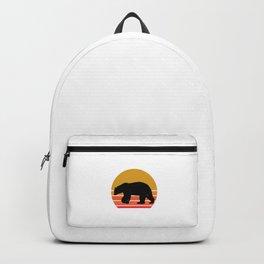 Retro Sun Polar Bear Animal Gift Idea Backpack