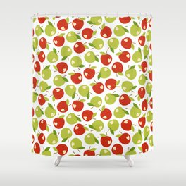 Bitten apples Shower Curtain
