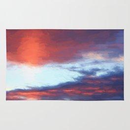 Sunrise on Swan Lake Flat Rug