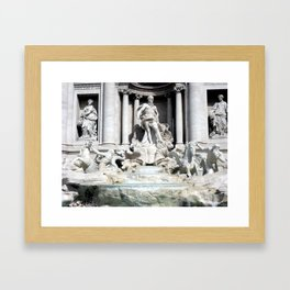 Palazzo Poli and the Trevi Fountain, Rome, Italy Framed Art Print