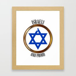 Israel And Proud Button Framed Art Print