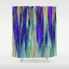 The Cavern in Shades of Purple and Green Shower Curtain