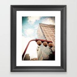 Sky and Building - Japanese Framed Art Print