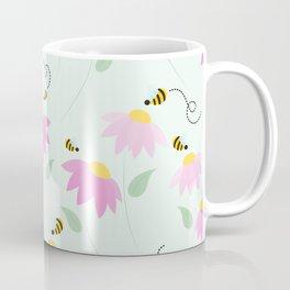 Pretty Flowers & Buzzing Bees Coffee Mug