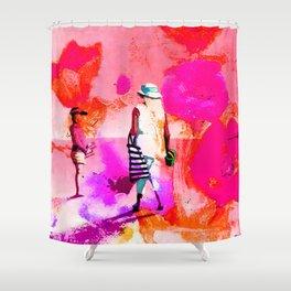 jardin rose Shower Curtain