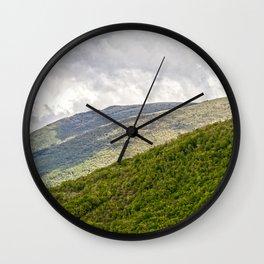 Umbrian hills Italy Wall Clock