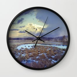 Rising Mist Wall Clock