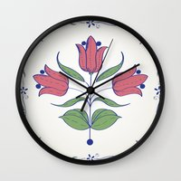 tulip Wall Clocks featuring Tulip by Rceeh