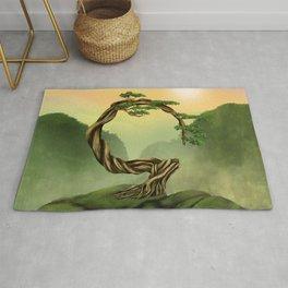 Enso Zen Circle Bonsai Tree  Rug