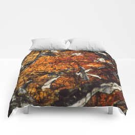 Pyroxene Crystals Comforters