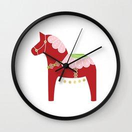Valentine Dala Horse Wall Clock