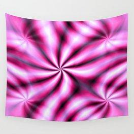 Windmills Shocking Pink Pattern Wall Tapestry
