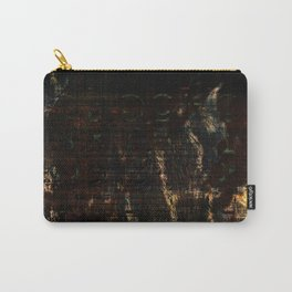 Damaged Text Carry-All Pouch