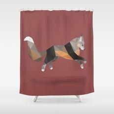 Silver Cross Fox. Shower Curtain
