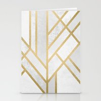 deco Stationery Cards featuring Art Deco Geometry 2 by Elisabeth Fredriksson