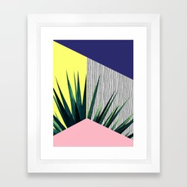 Geometric Leaves Framed Art Print