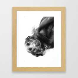 Good dog, yes you are Framed Art Print