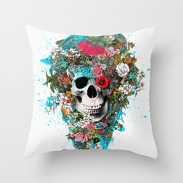 SUMMER SKULL V Throw Pillow