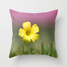 Yellow on Pink Throw Pillow