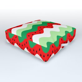 watermelon rickrack Outdoor Floor Cushion