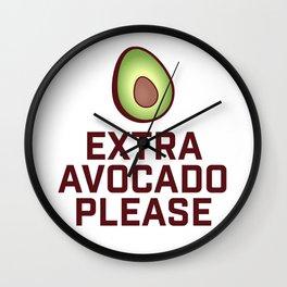 Extra Avocado Please Wall Clock