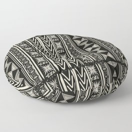 Boho Mud cloth (Black and White) Floor Pillow