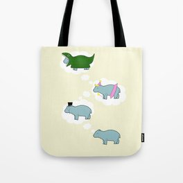 Baby Hippo Daydreams Tote Bag