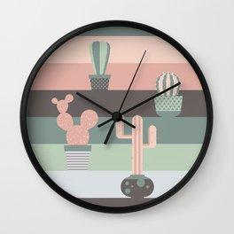 cacti colors Wall Clock